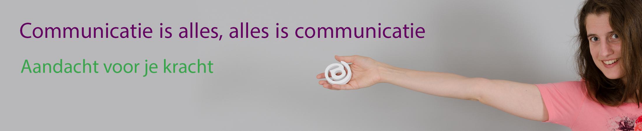 Communicatie is alles, alles is communicatie